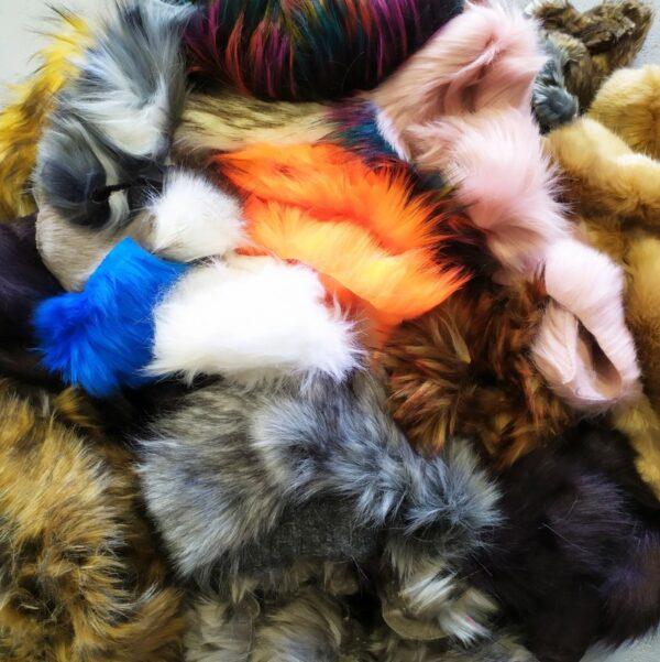 Fake fur scraps