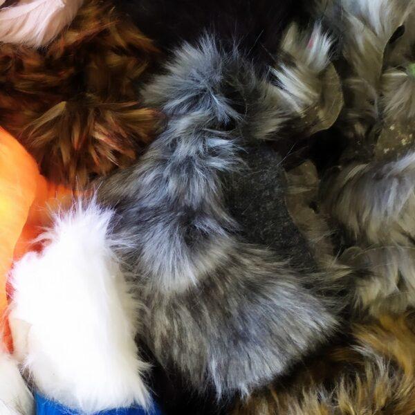 Faux fur scraps