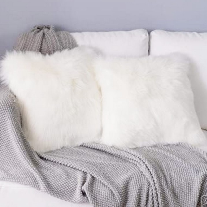 """Faux fur pillow"""